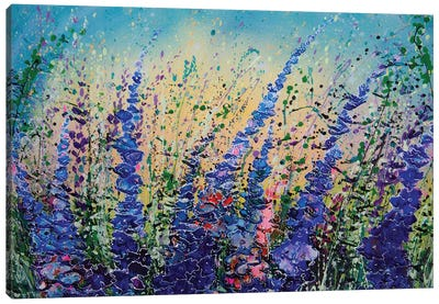 Love Blue Summer Skies Canvas Art Print