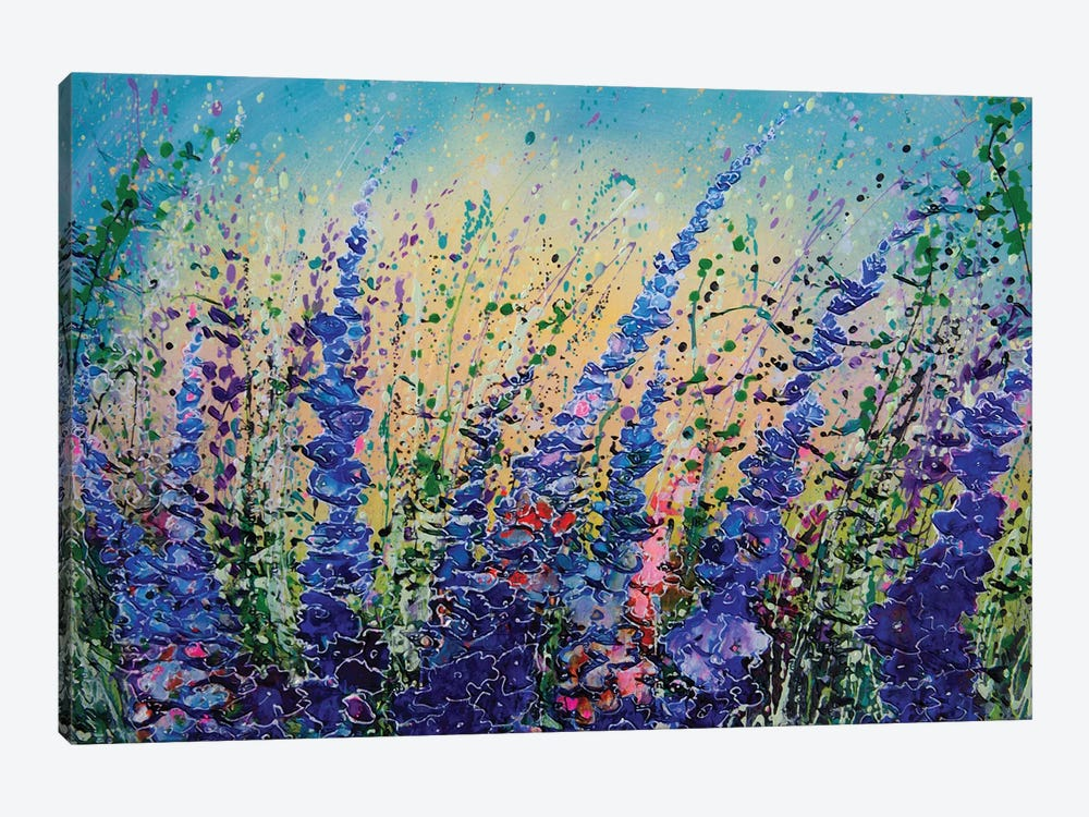 Love Blue Summer Skies by OLena Art 1-piece Canvas Art Print