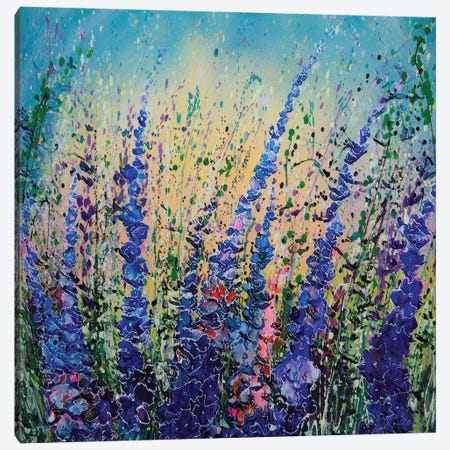 Love Blue Summer Sky 3-Piece Canvas #OLE195} by OLena Art Canvas Artwork