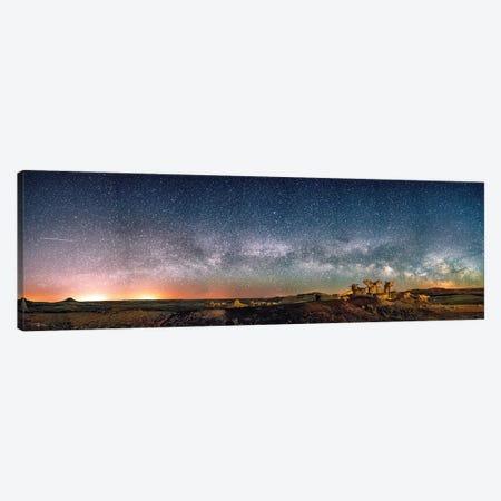 Bisti Badlands Hoodoos Under New Mexico Starry Night By Olena Art Canvas Print #OLE201} by OLena Art Canvas Print