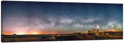 Bisti Badlands Hoodoos Under New Mexico Starry Night By Olena Art Canvas Art Print