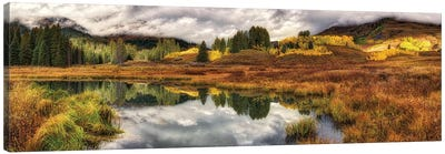Transition Of The Seasons In Rocky Mountains Colorado Canvas Art Print