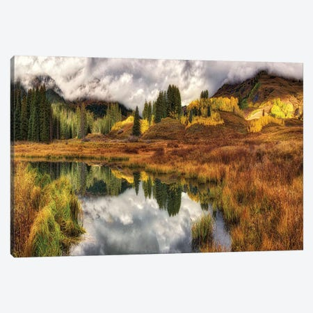 Transition Of The Seasons In Rocky Mountains Canvas Print #OLE205} by OLena Art Canvas Artwork