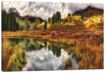 Transition Of The Seasons In Rocky Mountains Canvas Art Print