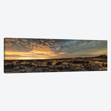 Bisti Badlands Hoodoos Under New Mexico Starry Night Canvas Print #OLE209} by OLena Art Art Print