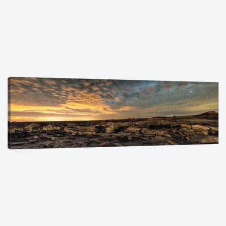 Bisti Badlands Hoodoos Under New Mexico Starry Night Canvas Print #OLE209} by OLena Art Art Print