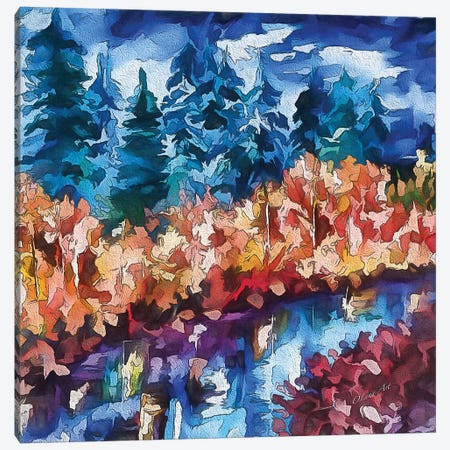 Fall In The Rockies Canvas Print #OLE20} by OLena Art Canvas Print