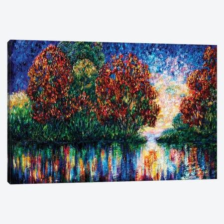 Rippled Sunset Canvas Print #OLE221} by OLena Art Canvas Art Print