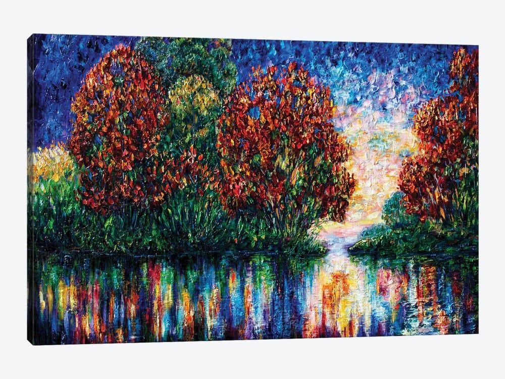 Rippled Sunset by OLena Art 1-piece Canvas Art Print