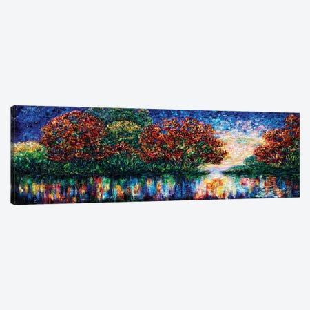 Rippled Sunset Palette Knife Painting Canvas Print #OLE222} by OLena Art Art Print