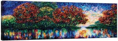 Rippled Sunset Palette Knife Painting Canvas Art Print