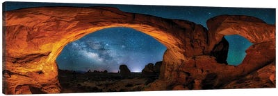 Moab's Arches With Stars Canvas Art Print