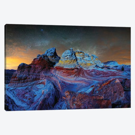 Deep Twilight At White Pocket Arizona Canvas Print #OLE234} by OLena Art Canvas Art Print