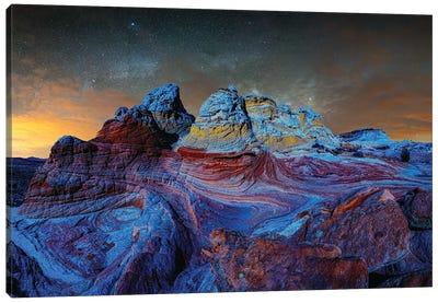Deep Twilight At White Pocket Arizona Canvas Art Print