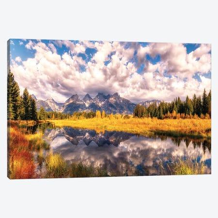 The Grand Tetons Range Reflection Canvas Print #OLE236} by OLena Art Art Print