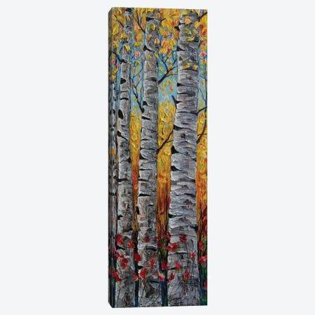 Impressionistic Colorado Aspen Trees Vertical Panorama Canvas Print #OLE239} by OLena Art Canvas Artwork