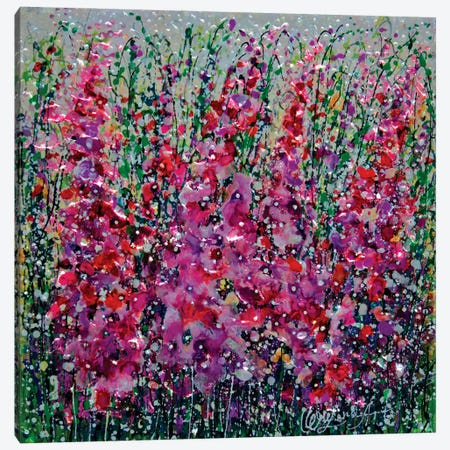 Fields Of Flowers Run Wild Canvas Print #OLE242} by OLena Art Canvas Art Print