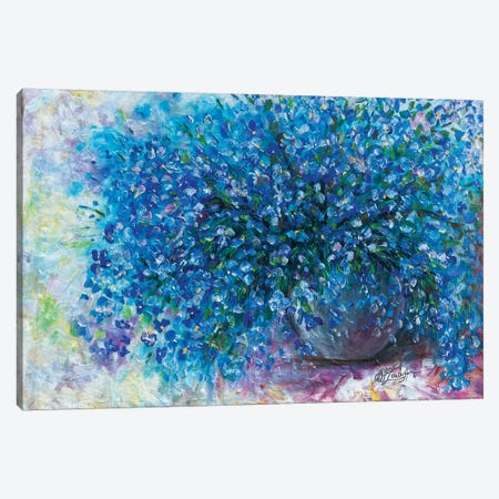 Forget Me Nots Canvas Print #OLE24} by OLena Art Canvas Art