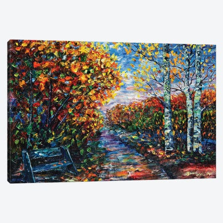 Impressionist Autumn Park Canvas Print #OLE28} by OLena Art Canvas Art Print
