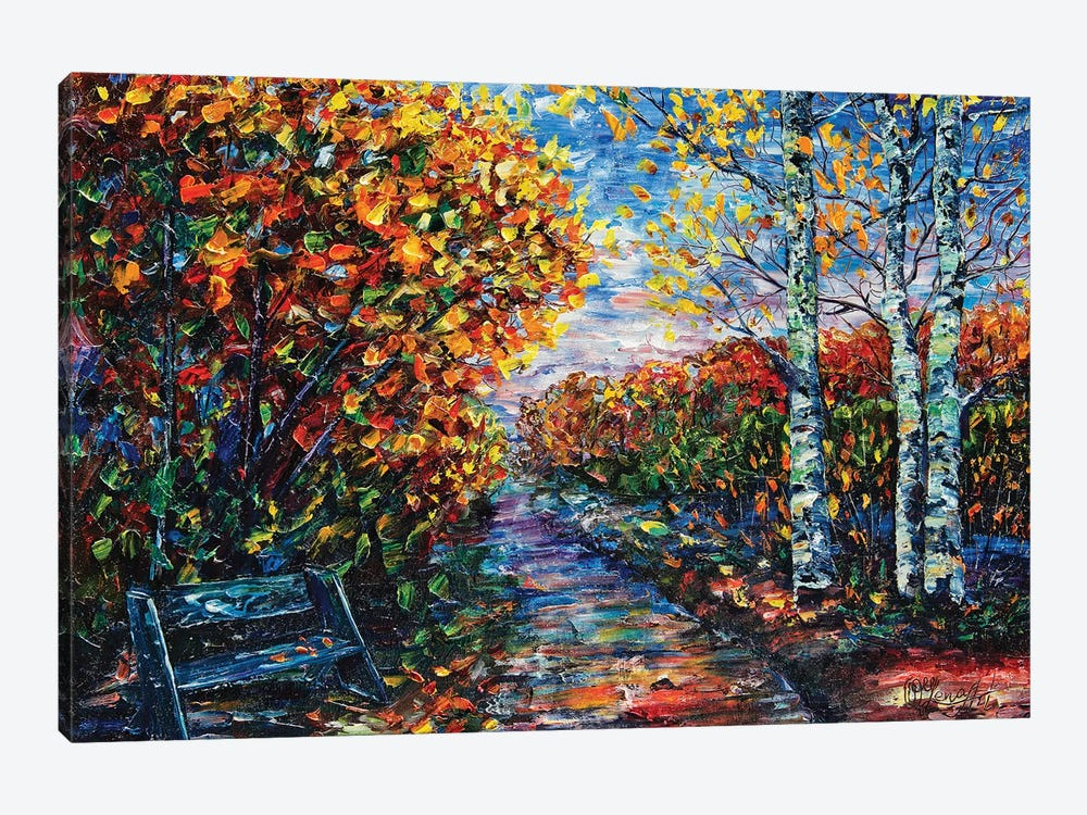 Impressionist Autumn Park Canvas Artwork By Olena Art Icanvas