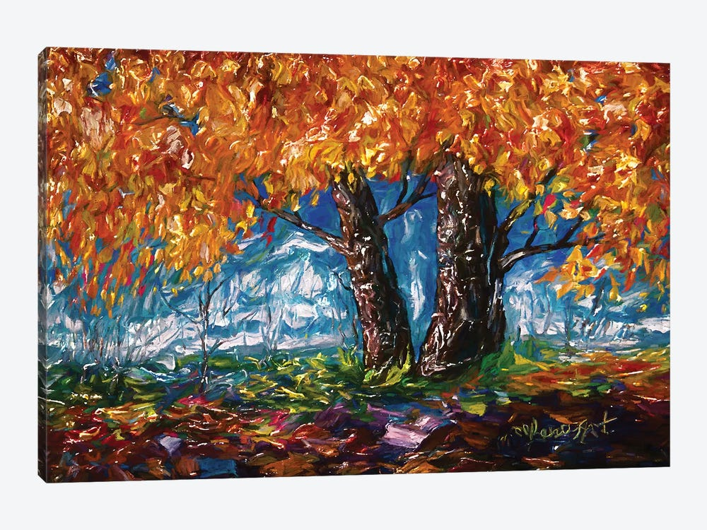 Impressionist Tree by OLena Art 1-piece Canvas Wall Art