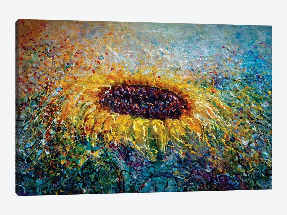 In The Swirls Of Sunshine by OLena Art 1-piece Canvas Art Print