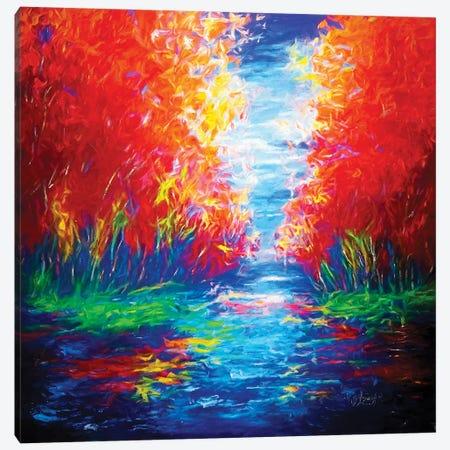 Lake View Impression Canvas Print #OLE34} by OLena Art Art Print