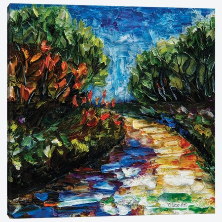 Landscape Palette Knife Canvas Print #OLE35} by OLena Art Canvas Art Print