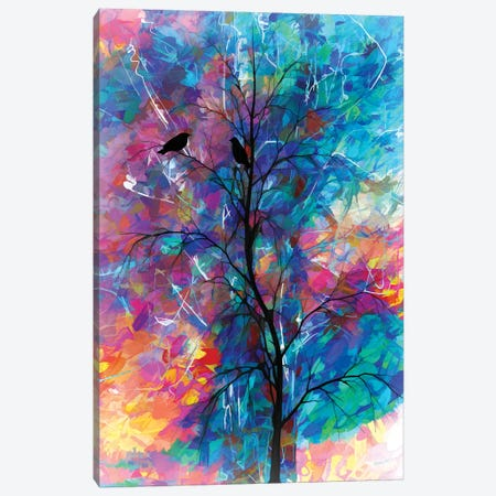 Love Birds Abstract Canvas Print #OLE37} by OLena Art Canvas Print