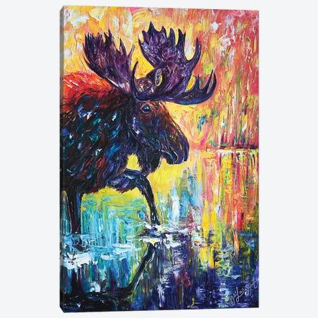 Moose Canvas Print #OLE38} by OLena Art Canvas Artwork