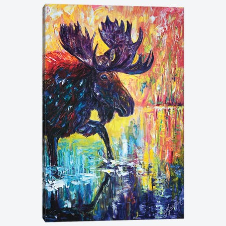 Moose Canvas Print #OLE38} by OLena Art Canvas Artwork