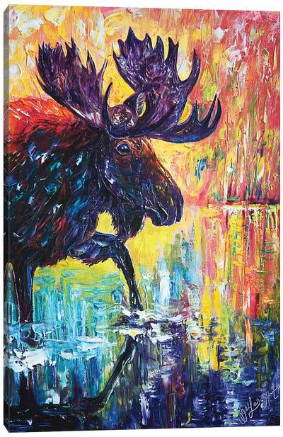 Moose Canvas Art Print