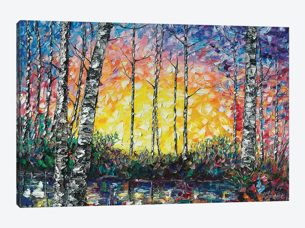 Morning Breaks by OLena Art 1-piece Canvas Print