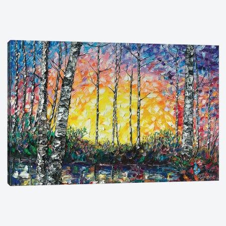 Morning Breaks 3-Piece Canvas #OLE39} by OLena Art Canvas Art