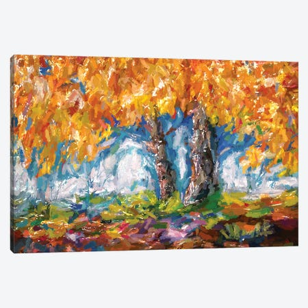 Abstract Impressionist Tree Canvas Print #OLE3} by OLena Art Canvas Wall Art