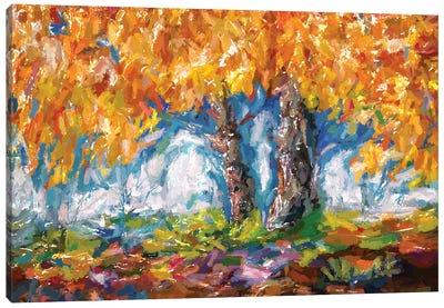 Abstract Impressionist Tree Canvas Art Print