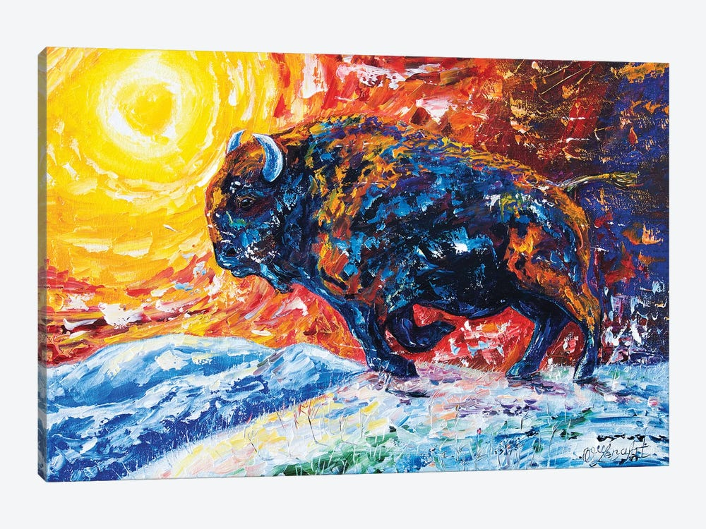 Wild The Storm by OLena Art 1-piece Canvas Artwork