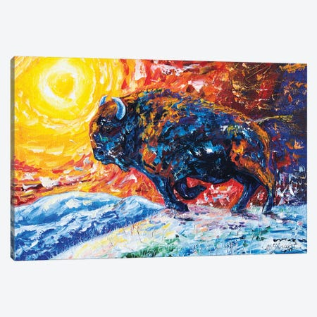 Wild The Storm 3-Piece Canvas #OLE43} by OLena Art Canvas Print
