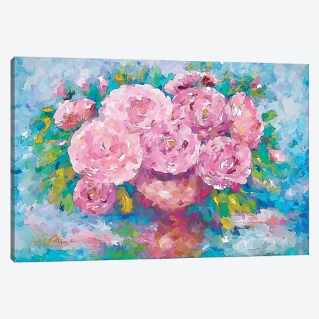 Pink Roses Canvas Print #OLE45} by OLena Art Canvas Art