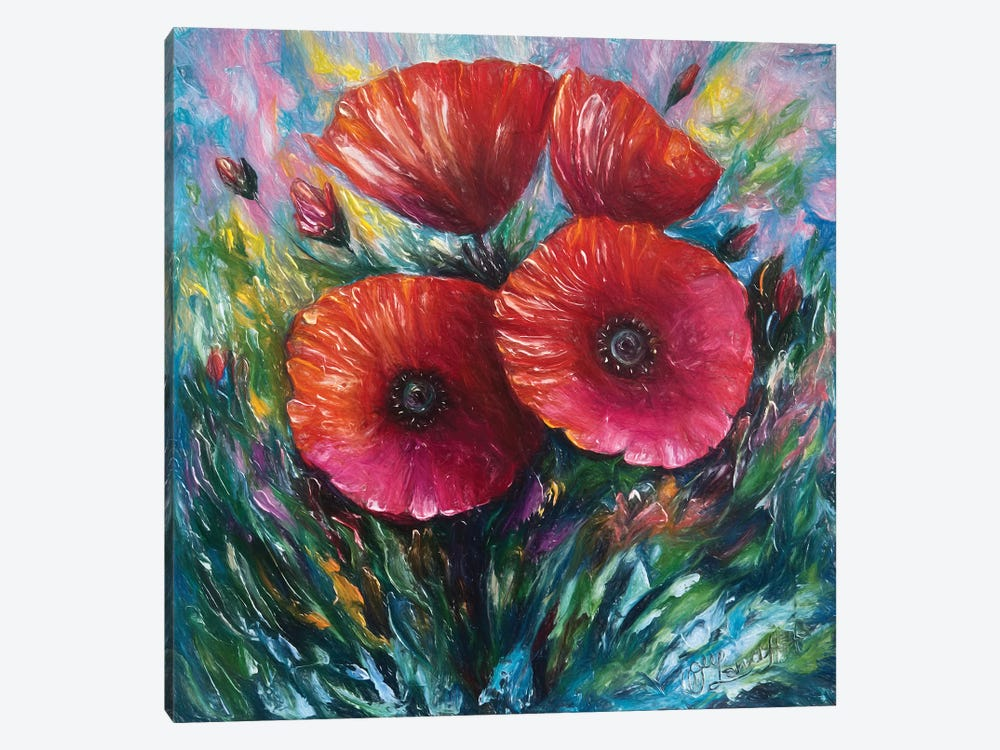 Red Poppies by OLena Art 1-piece Art Print