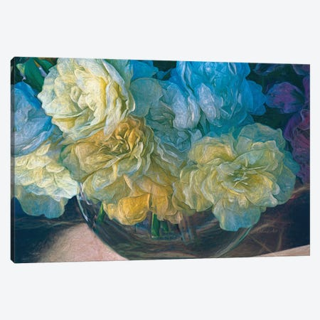Vintage Still Life Bouquet Canvas Print #OLE67} by OLena Art Canvas Artwork