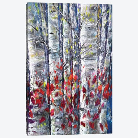 Aspen Trees II Canvas Print #OLE6} by OLena Art Art Print