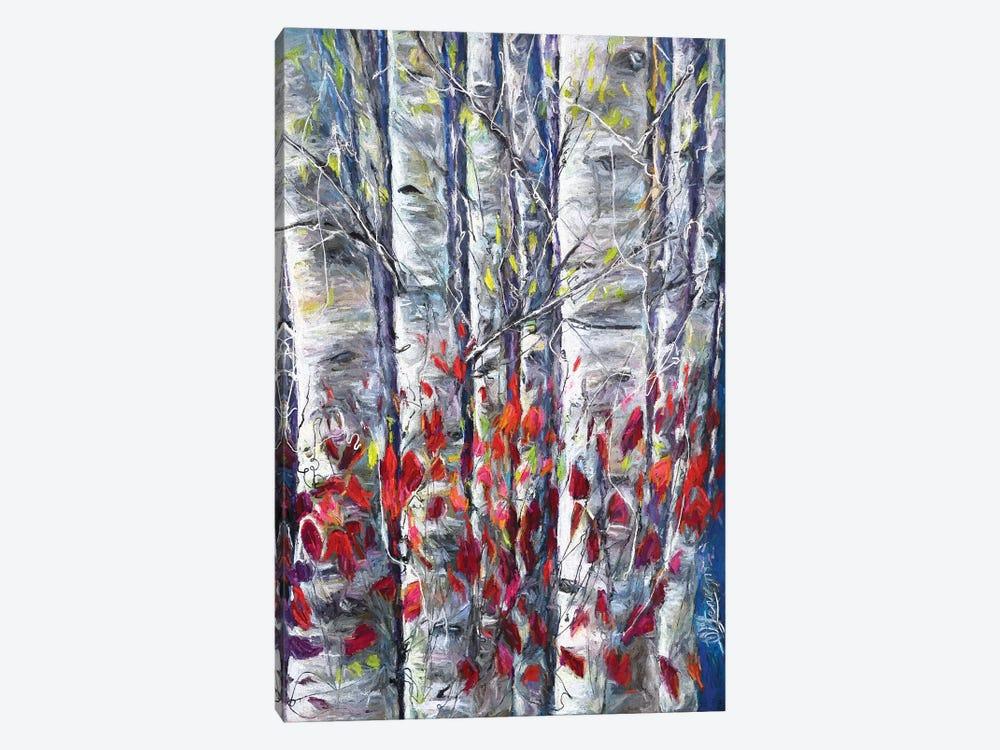 Aspen Trees II by OLena Art 1-piece Canvas Print