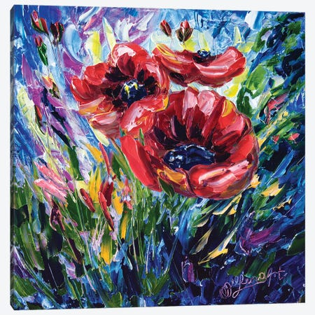 Wild Poppies Canvas Print #OLE71} by OLena Art Canvas Art