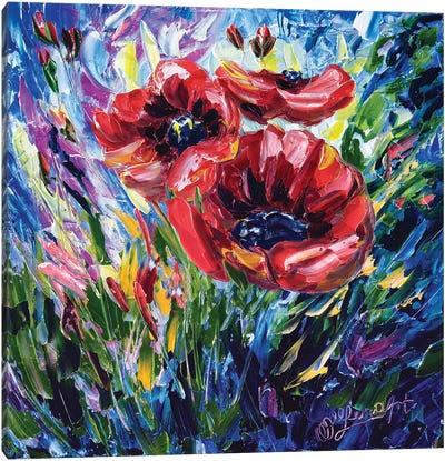 Wild Poppies Canvas Art Print