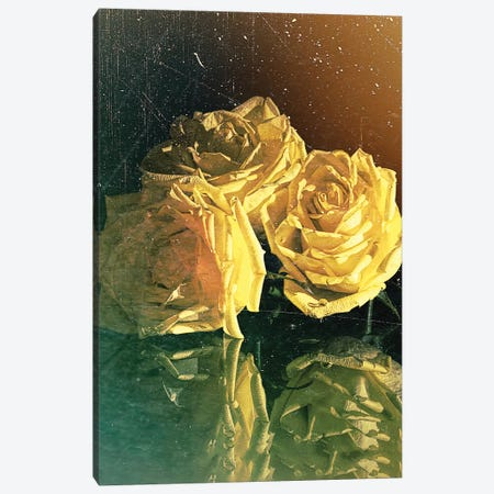 Yellow Rose Canvas Print #OLE76} by OLena Art Canvas Print