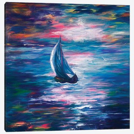Sailing Canvas Print #OLE78} by OLena Art Canvas Wall Art