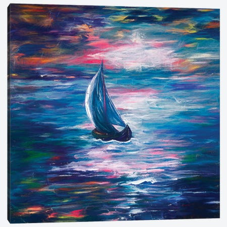 Sailing Canvas Print #OLE78} by OLena Art Canvas Wall Art