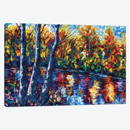 Autumn Forest River Canvas Print #OLE7} by OLena Art Art Print