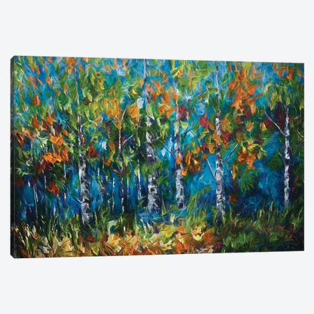Shimmer In The Woods Canvas Print #OLE81} by OLena Art Canvas Art Print